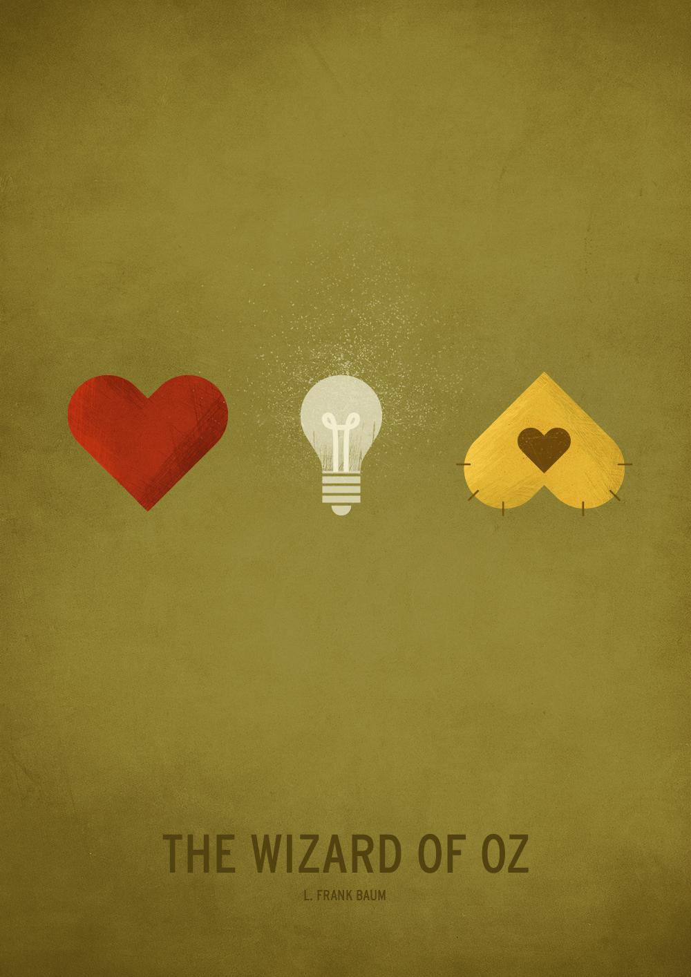 Минималистични плакати  - приказката Вълшебникът от Оз
