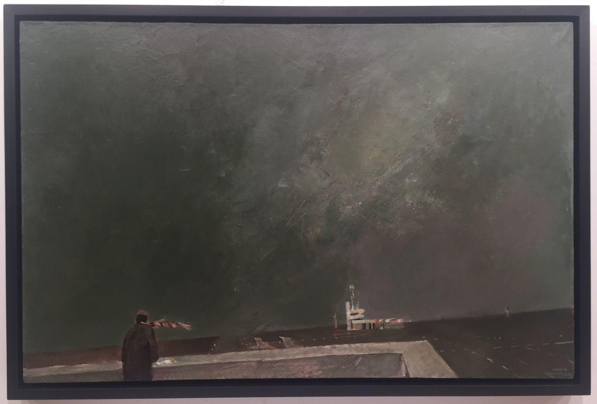 Недко Солаков, Очаквайки я, 1978, маслени бои върху платно, 65 х 100 см