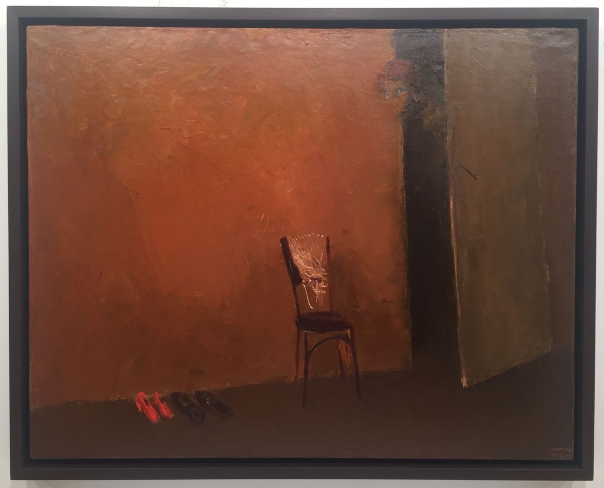 Недко Солаков, Хазяйката, 1978, маслени бои върху платно, 73 х 92 см