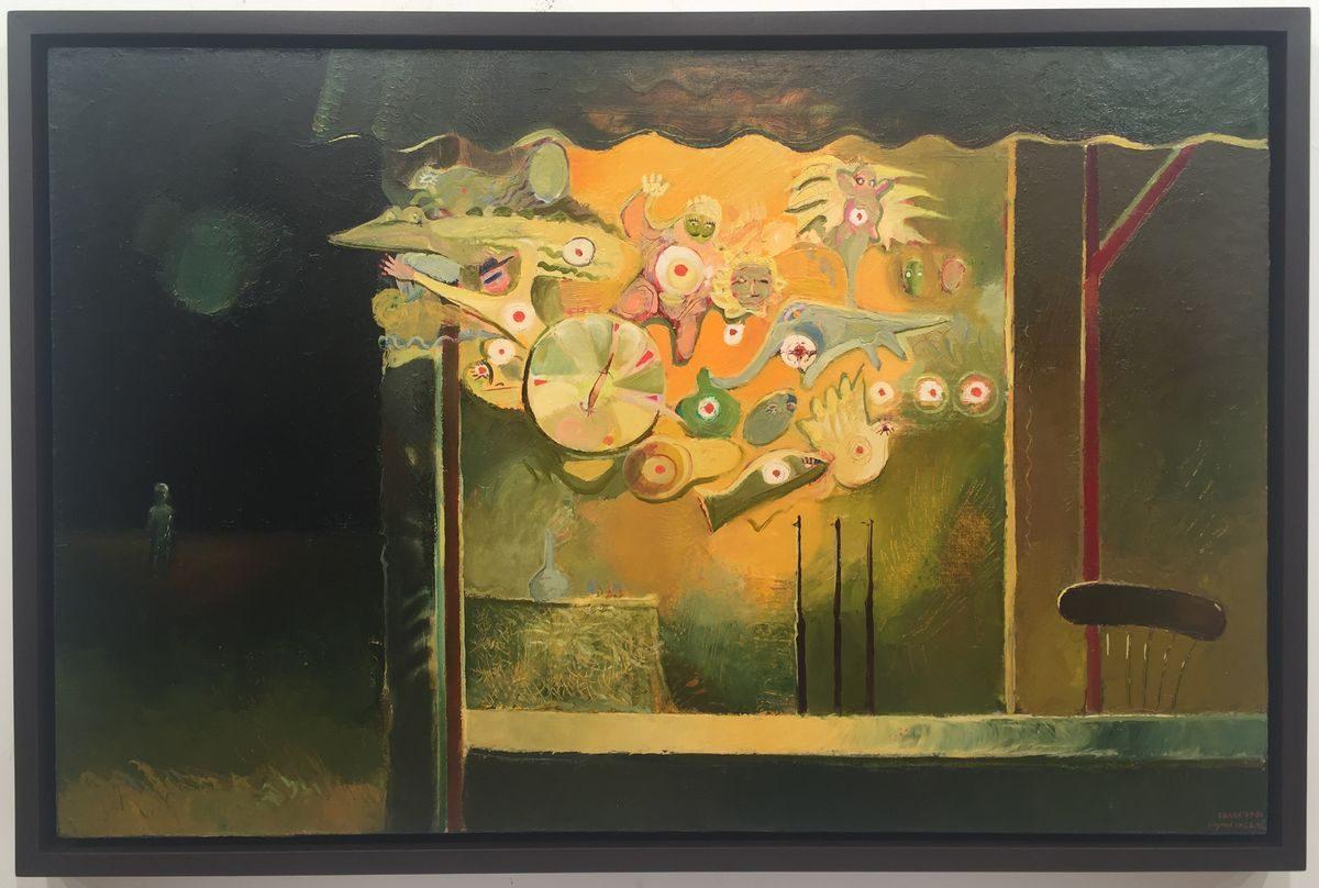 Недко Солаков, Стрелбище, 1979-80, маслени бои върху платно, 65 х 100 см