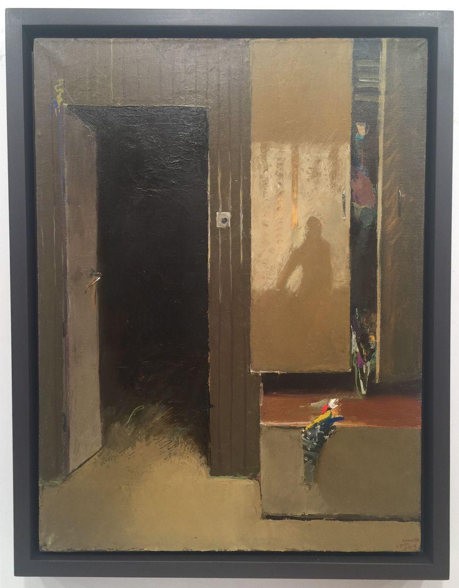 Недко Солаков, Селският луд, 1981, маслени бои върху платно, 54 х 65 см.