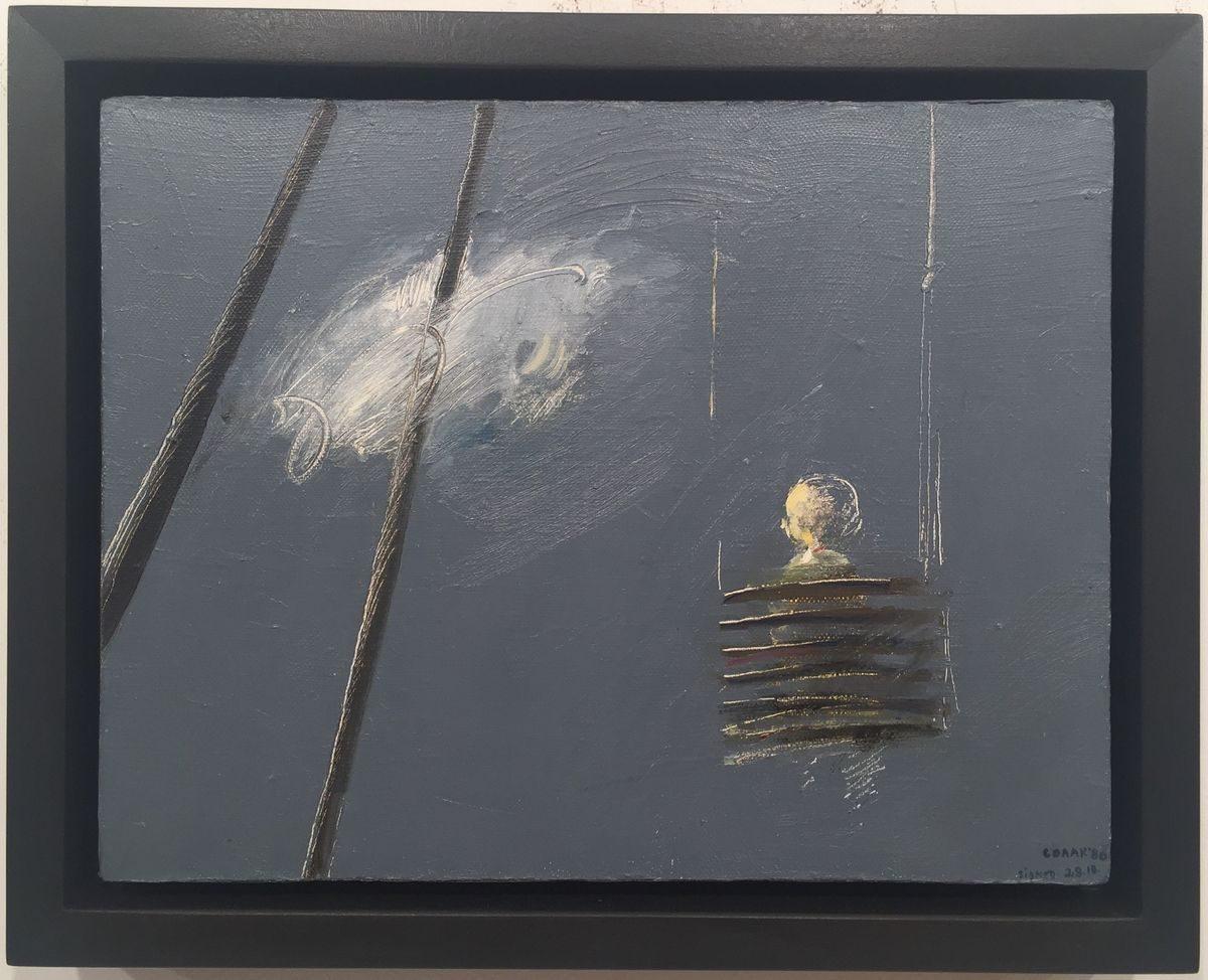 Недко Солаков, Люлка, 1980, маслени бои върху платно, 27 х 35 см