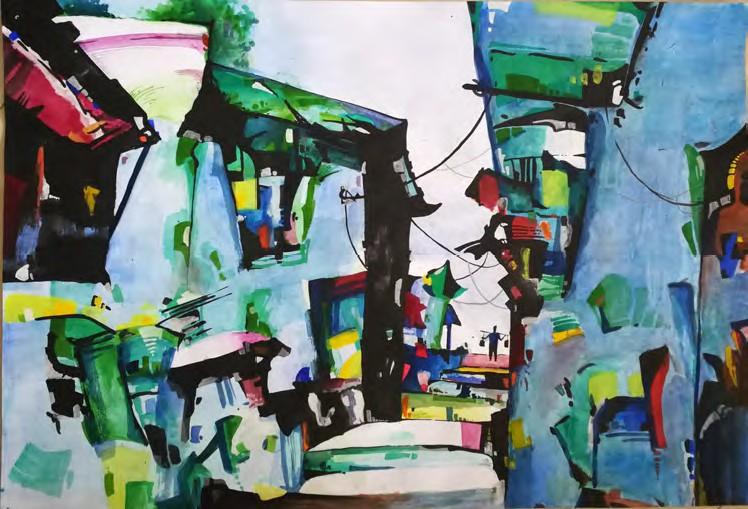 изложба на най-добрите произведения от Световния конкурс за детска рисунка (една от картините)