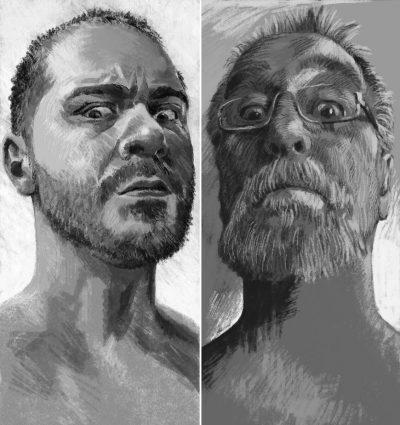 """Страници от """"Седем градски гряха"""", изповядани (разказани и нарисувани) от Благой Д. Иванов и Петър Станимиров"""
