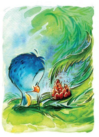 """Из """"Птичето и дървото"""" от Вера Асенова с илюстрации на Свилен Димитров"""
