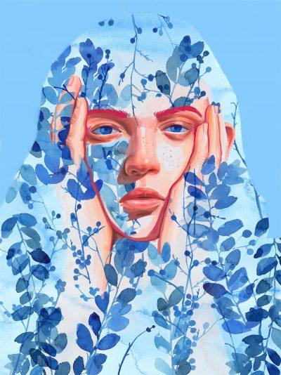 Фини акварелни (и душевни) напластявания – в портретите на Àngela Maria Sierra
