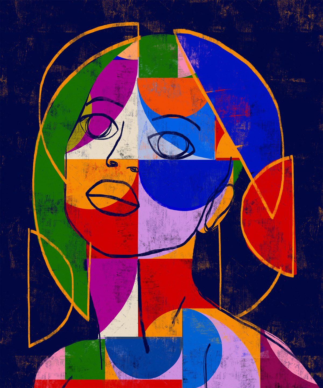 портретите на пъстри жени, създадени от Luciano Cian