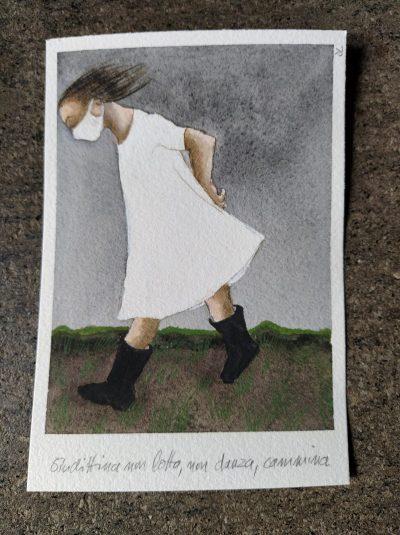 Поздрав от Рим и художничката Джудит Ландж – с малки рисунки с темпера и наблюдения върху мартенските ни традиции