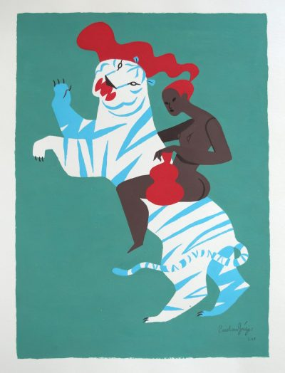 Жени, съдове и диви котки. И още поетични илюстрации (бродерии и керамика) от португалката Carolina Buzio