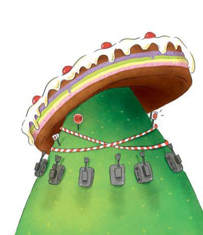 """Откъс от """"Торта в небето"""" на Джани Родари (с илюстрациите на италианската художничка Киара Балиони)"""