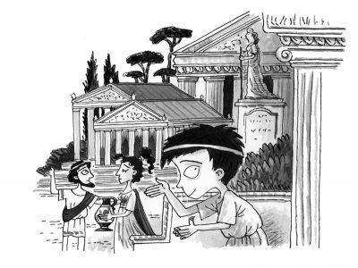 """Откъс (и весели илюстрации) от """"Древногръцки истории: Градският мишок и спартанският дом"""" на Тери Диъри"""